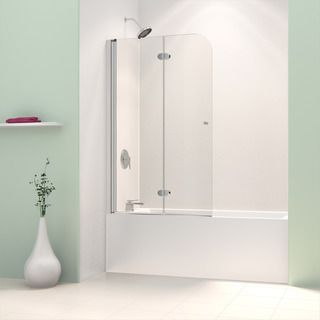 DreamLine AquaSwing Tub Door 58 in. H x 34 in. W Clear Glass Tub Door in Chrome Finish - Overstock Shopping - Big Discounts on DreamLine Shower Doors