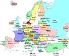 Mapa con los países y capitales de Europa (actualizado 2013)