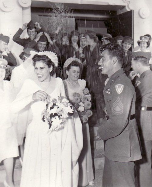 "John Basilone & Lena Riggi in real life This is awesome, I have ""The Pacific"" dvd's their love story was beautiful."