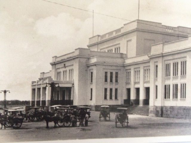 One of the art deco building in Jakarta. Delman or cart using horses was one of transportation mode