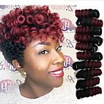 Popular In USA Crochet braids synthetic curlkalon saniya curl hair extension 8inch ombre grey color bug curly braids UK 20roots/pack 5packs make head 2017 - $6.95
