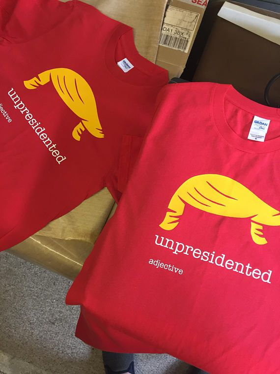 Donald Trump will be #President of the United States of America. Unpresidented. However you wanna spell it.    SIZE GUIDE Men's Regular (Gildan Premium/Ultra/Heavy) Chest (i... #politics #election #tweet #republican #usa #obama #clinton #hair #misspelling #president #unprecedented