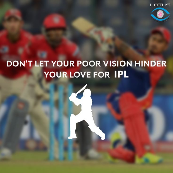 Cheer for your favourite team and favourite player spectacles-free this IPL Season.  Opt for ReLEx SMILE, the most advanced laser vision correction. www.lotuseye.org/relex-smile/  #ReLEx_SMILE #EyeTreatment #EyeSurgery #visioncorrection