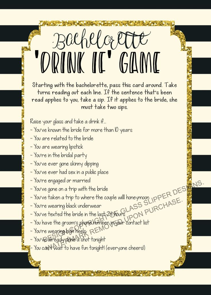 Printable bachelorette game/ bachelorette drinking game / bachelorette party game /  drink if game / take a sip game / hen party game by PrettyPrintablesInk on Etsy