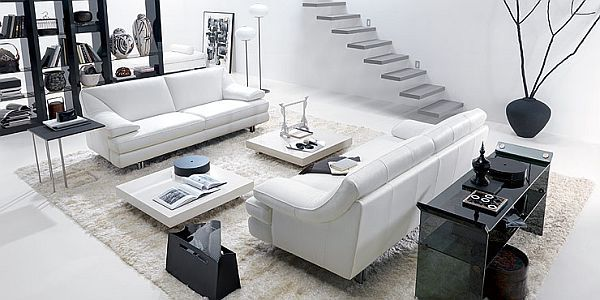 How to decorate your living room using black and white
