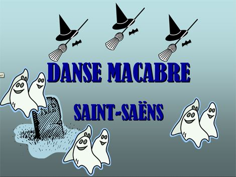 A Great Power Point Presentation for teaching Danse Macabre by Saint Saens