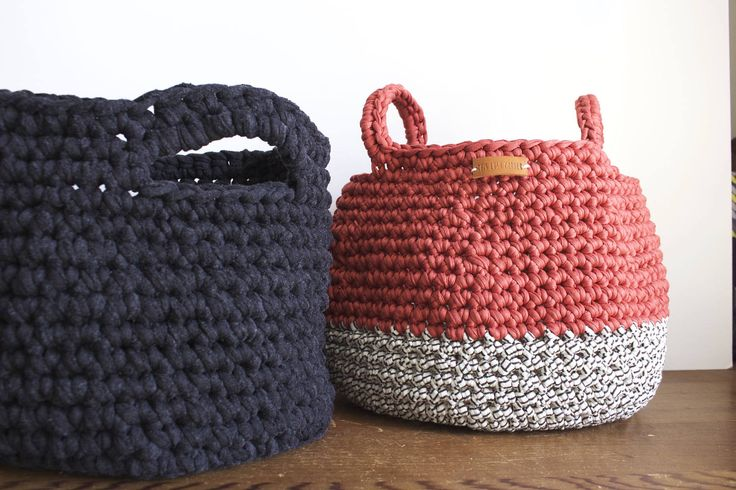 crochet basket for home by Thislushcorner on Etsy