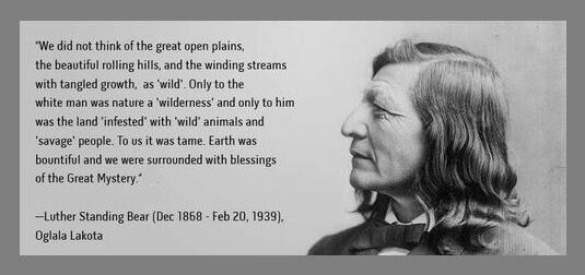 Luther Standing Bear quote