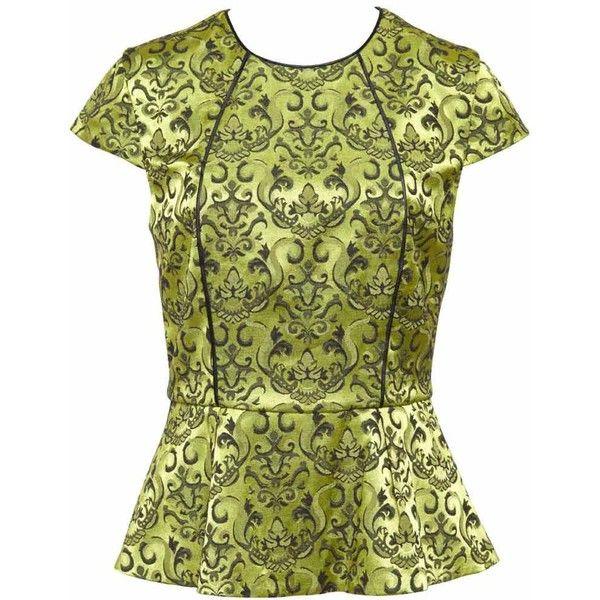 Bardot Gold Brocade Top ($82) ❤ liked on Polyvore