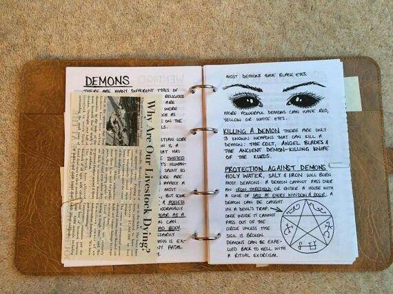 John Winchester's diary ~ Demons