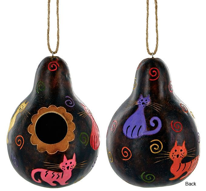 All Over Cats Gourd Birdhouse at The Animal Rescue Site