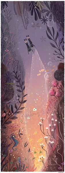 Undersea painting by Neiko Ng, via Behance
