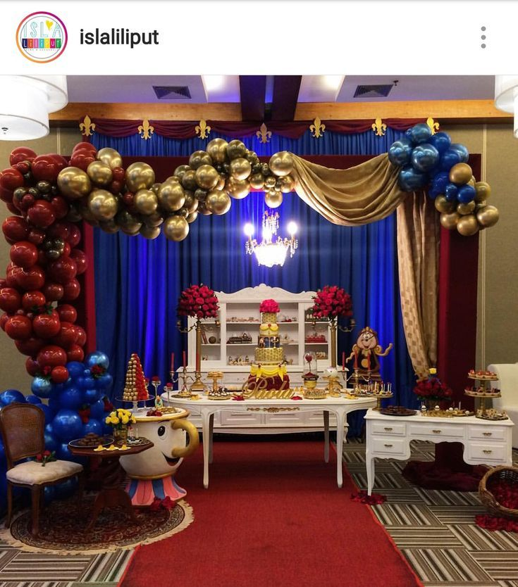 Beauty And The Beast Birthday Dessert Table And Decor Beauty And