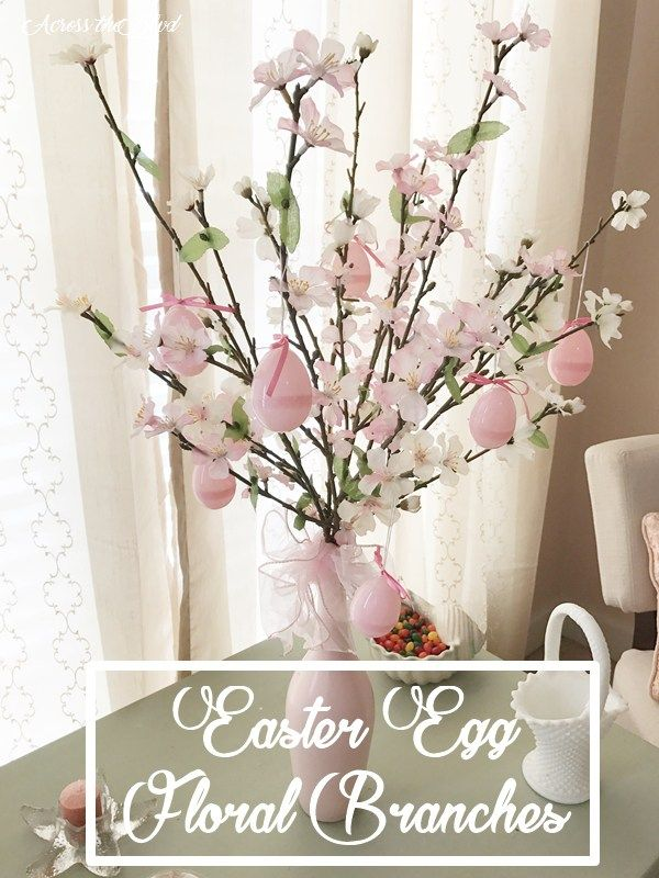 Easter Egg Floral Branches Across the Blvd