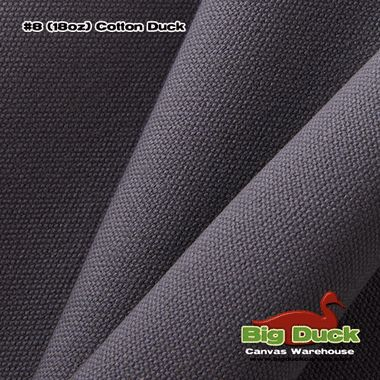 "#8/60"""" Cotton Canvas Duck - Grey"