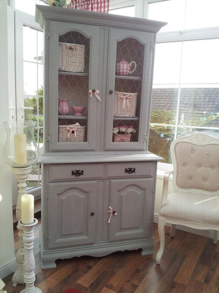 Beautiful French Inspired Shabby Chic Painted Dresser Larder Display Cabinet Welsh