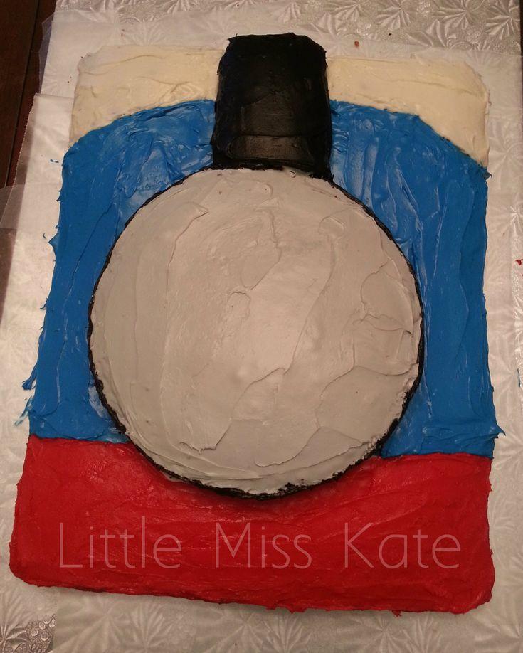 The 25 best train cakes ideas on pinterest thomas birthday easy homemade thomas the train cake pronofoot35fo Images