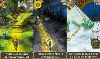 Jogo Temple Run: Oz  para celular Android. Confira esta matéria