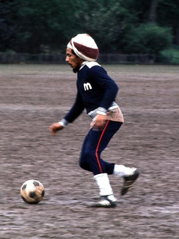 Bob Marley playing soccer