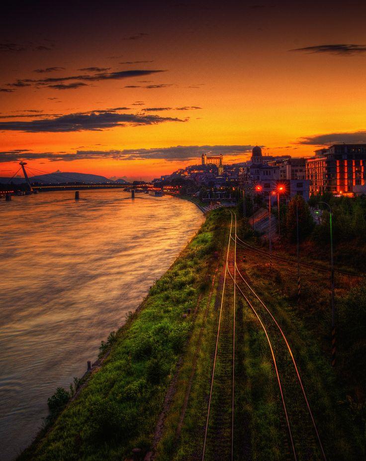 tracks to Bratislava by Marek Ševc on 500px
