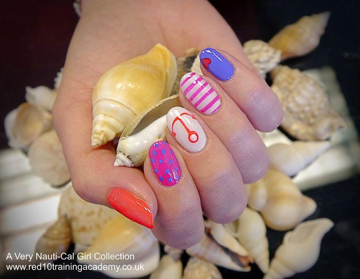 A Very Nauti-Cal Girl Gelish Collection, Nautical Nails.