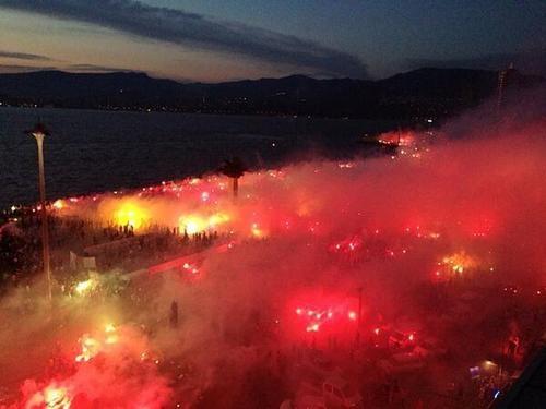 Festivities are also abound in Izmir tonight (Saturday).