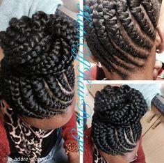 Ghana braids..so cute I had to pin it twice!!