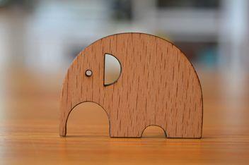 Brooch - Wooden Elephant | Trade Me