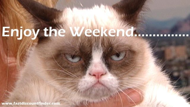 fastdiscountfinder.com | Enjoy a Grumpy Cat Weekend! | http://fastdiscountfinder.com