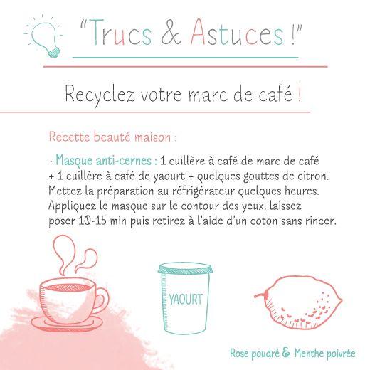 Recyclez votre marc de café ! N°4 - #rpmp #skin #coffee #beauty #care #eye #beautiful #truc #astuce #tip