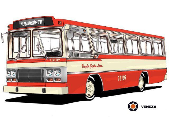 Will.Bus: Marcopolo Veneza / Mercedes-Benz LPO 1113 - (SP) Viação Castro Ltda. (Década de 70)