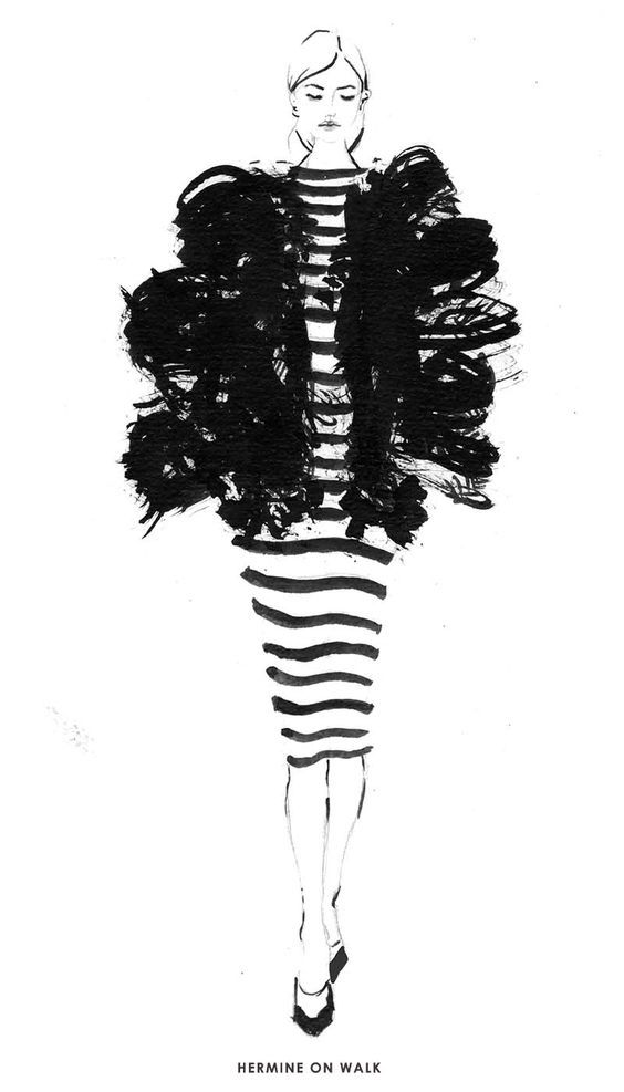 Besten Fashion Modezeichnungen Bilder Auf Pinterest