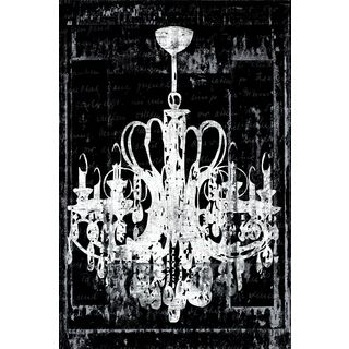 Shop for Portfolio Canvas Decor IHD Studio 'Chandelier 3 in Black' Framed Canvas…