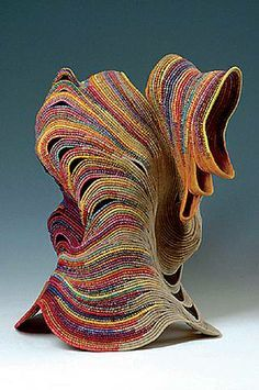 Ferne Jacobs | coiled waxed linen thread vessel