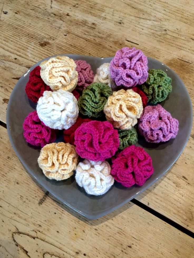 Squiggly ruffle pompoms on the LoveCrochet blog!  Crochet with Kate!