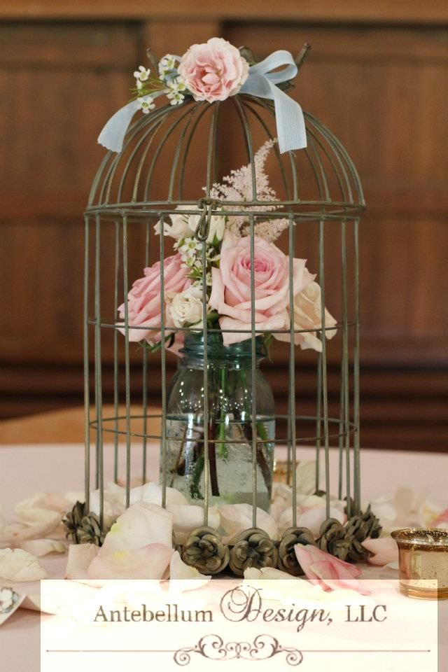 Mini birdcage centerpieces - photo#49