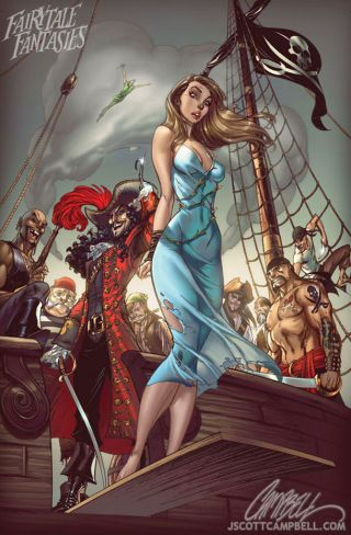 """A ton of Disney Princesses and others, drawn in the """"comic book style"""""""