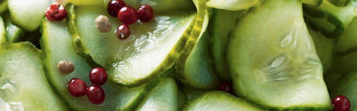 Agurkesalat med peberkorn og anis