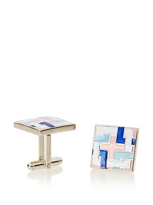 55% OFF L2 Pink Locked Squares Cufflinks