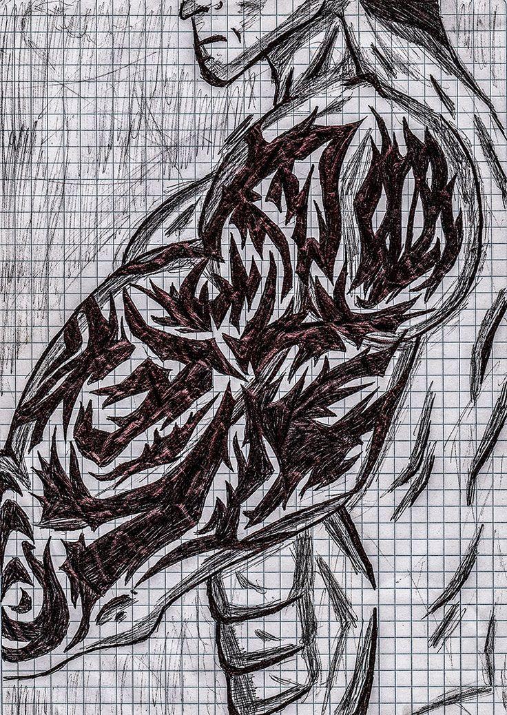 Boceto hecho a lapicero.