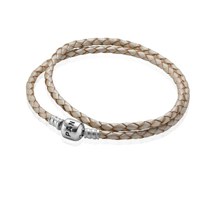 Check out the deal on PANDORA Champagne Double Braided Leather Bracelet at  Precious Accents, Ltd.