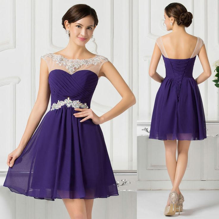 Mini Short Homecoming Bridesmaid Evening Party Graduation Ball Gown Prom Dress | eBay