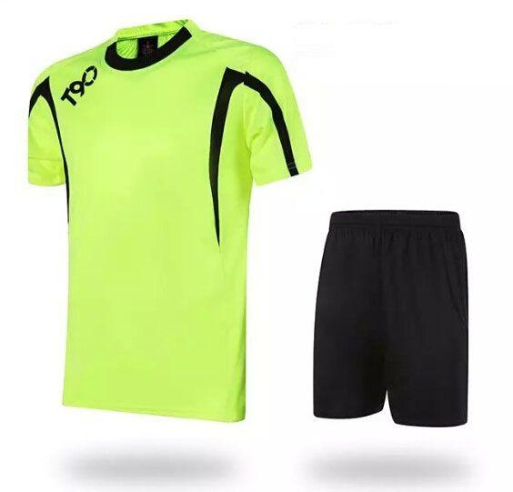 Soccer Jerseys Cheap-T90 Green Training Blank Uniform #3155