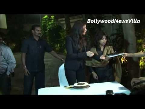 Aishwarya Rai Bachchan celebrates her 41st birthday with press and media.