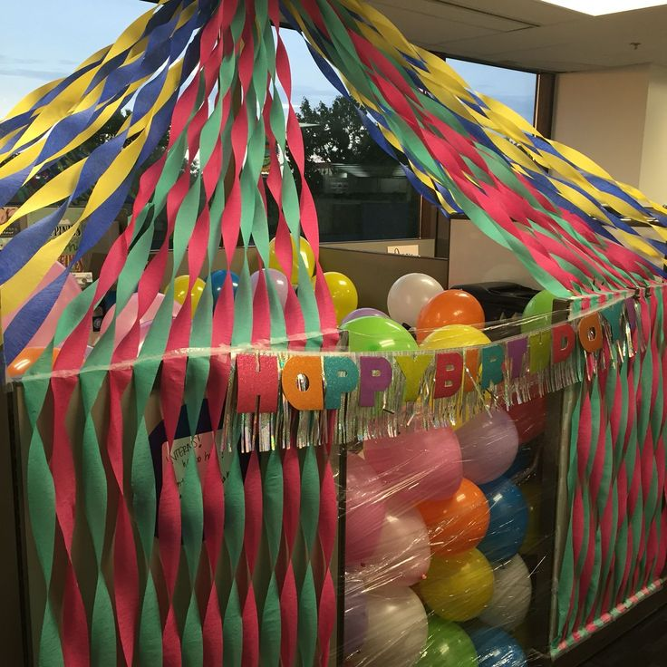 13 Best Cubicle Birthday Decorating Ideas Images On