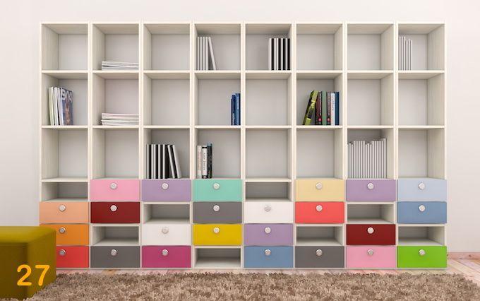Bibliotecas de colores camas-marineras-varones