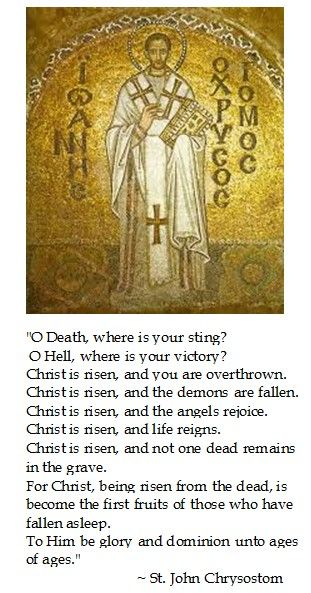 St. John Chrysostom on Easter