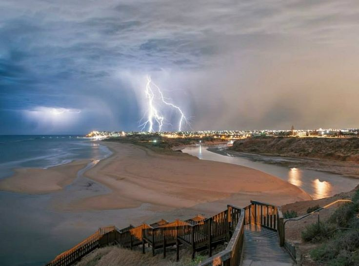 Summer storm in Adelaide