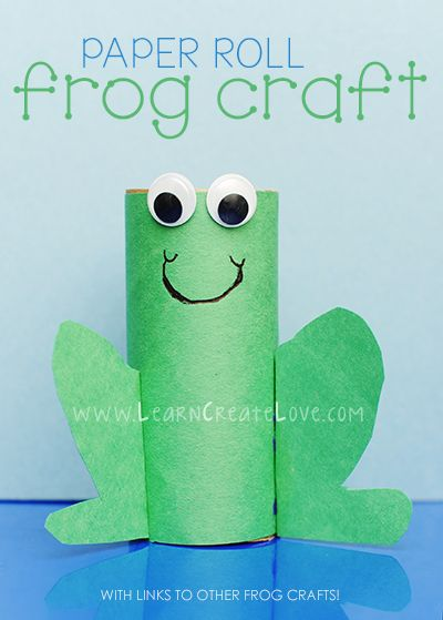Paper Roll Frog Craft from LearnCreateLove.com