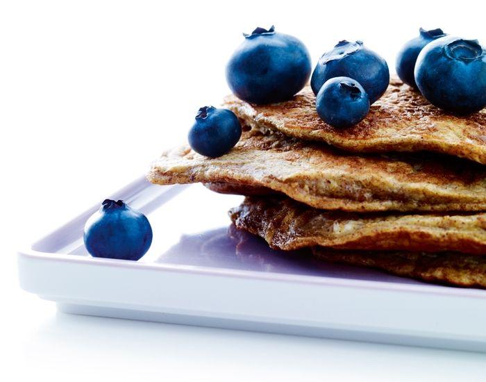 Sund morgenmad: Bananpandekager med kanel og blåbær - Måltid